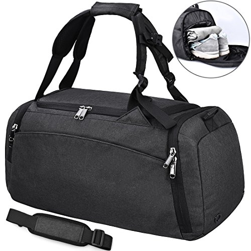 64f9c2a601 Sports Gym Duffel Bag Waterproof Large Outdoor Travel Holdall Overnight  Weekender Luggage Bag Shoes Compartment Men