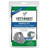 Vet's Best 1 Count Washable Male Dog Wrap, Large/Extra-Large