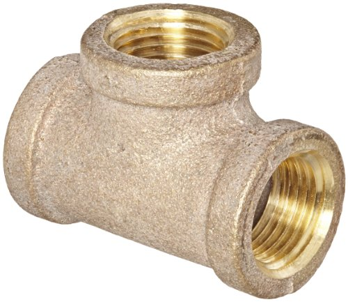 Anderson Metals 38101 Red Brass Pipe Fitting, Tee, 3/8
