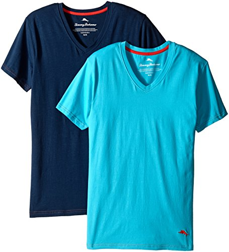 tommy-bahama-mens-2-pack-stretch-cotton-comfort-solid-v-neck-t-shirt-aqua-neptune-x-large