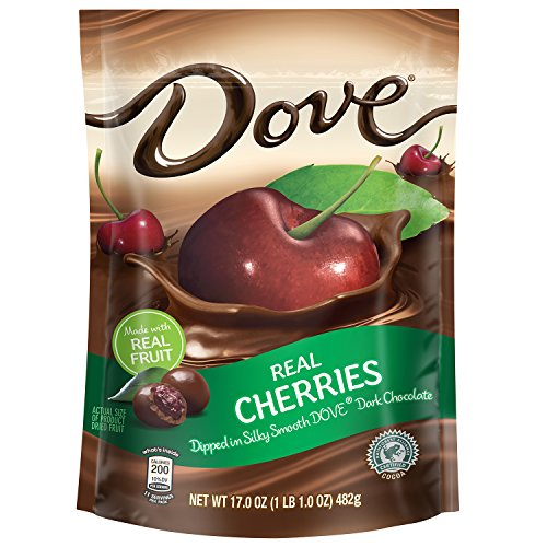 DOVE Fruit Dark Chocolate With Real Cherries 17-Ounce Pouch (Chocolate Dipped Cherries)