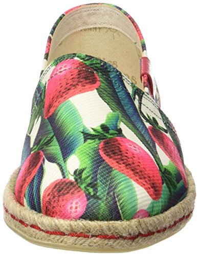 MISS Muticolor Basse Espadrillas Multicolore Donna Strawberry HAMPTONS Ywrq7Y