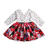 Baby Girl Outfits Kids Christmas Polka Dot Dresses Toddler Fall/Winter Clothing