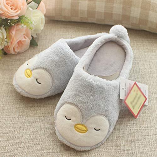 Size 39 de de casa Xuxuou Zapatillas Size 36 de 38 Pinguino Pinguino Pareja Zapatos Algodón Pantuflas Invierno Antideslizante de Zapatillas de 37 Swf1Uwq