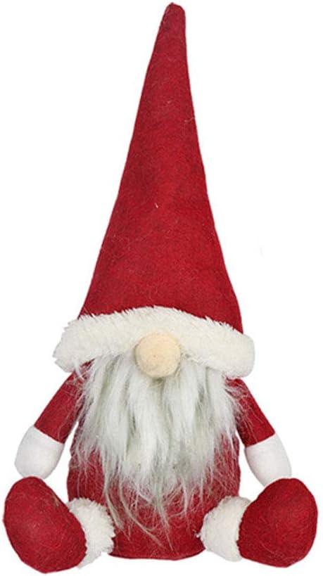 Zhongdawei - Muñeco de Papá Noel sin rostro, adornos de Navidad para el hogar, adorno para Feliz Navidad y Feliz Año Nuevo