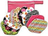 Jona's Creation, Set of 10 pcs Reusable Cloth Panty Liner Pads w/ Wings + Travel Wet Bag, - Leak-proof Panty Liner / Cloth Sanitary Pads / Daily Panty Liner, Washable Sanitary Daily Cloth Pads