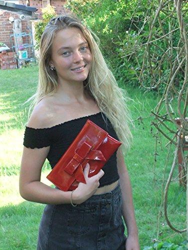 femme LONI rouge pour Pochette bordeaux bordeaux petit qTwzC
