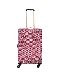 Jenni Chan 01400-24S-Red Aria Snow Flake 24-Inch Upright Spinner, Red, Checked-Medium
