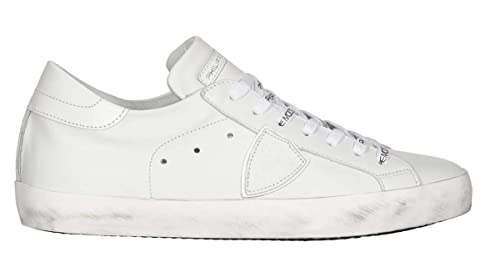 a3935213ed Philippe Model Classic Low Sneaker Woman White Leather Suede CLLD 1001