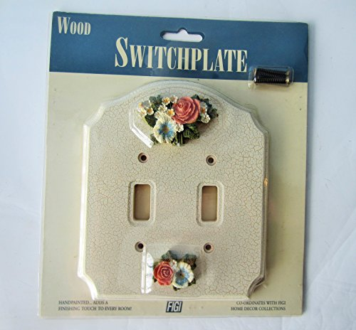 - Floral Double Wood Switchplate
