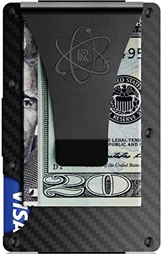 - RFID Blocking Carbon Fiber Credit Card Holder and Metal Money Clip by Rossm - Mini and Slim Minimalist Wallet for Men - Rigid Front Pocket ID and Cash EDC for Euro and Usd - Minimal Business Look