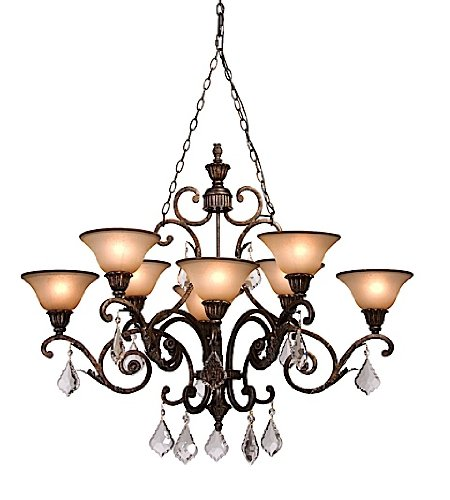(Artcraft Lighting Florence 8-Light Oval Chandelier, Rich Bronze)