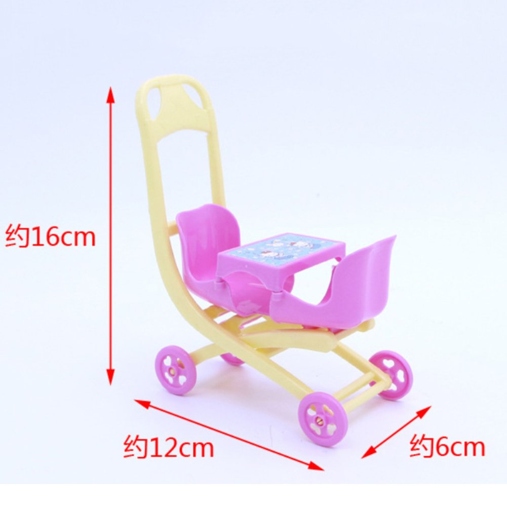 dds5391 A Variety Novelty Toys 1 Pc Cute 2 Babies Stroller Mini Pushchair Cart Trolley Gift Home Room Decor - Purple