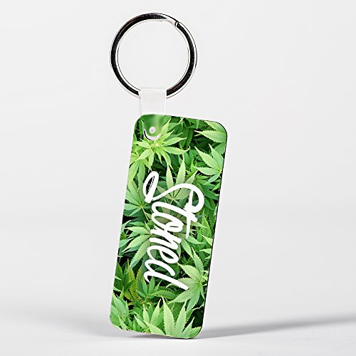 Stoned Design Funny Weed Marijuana Green Key (Stoned Designs)