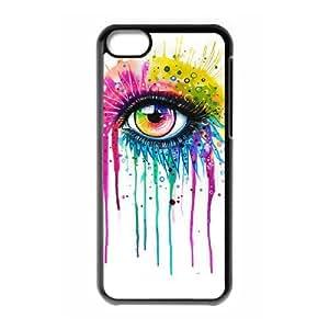DIY High Quality Case for Iphone 5C, Rainbow Eye Phone Case - HL-R638924