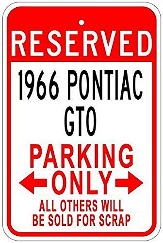 (Ugtell Metal Signs 1966 66 Pontiac GTO Aluminum Parking Sign - 12 X 16 Inches)