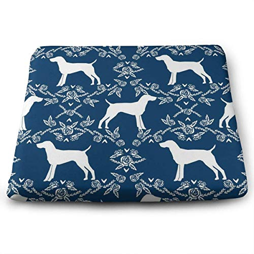 - Seat Cushion for Office Chair, Indoor Outdoor Square Seat Cushion - Dachshund Dog Floral Chair Pads Memory Foam Filled for Patio,Office,Kitchen,Desk,Travel,Kids,Yoga,Truck Driver,Car