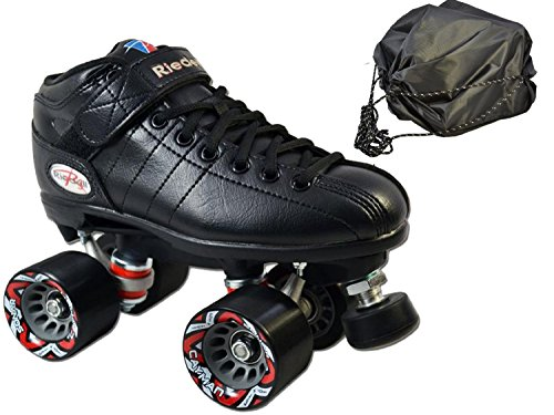 Riedell R3 Black Speed Skate 2 Pc Bundle with Drawstring ...