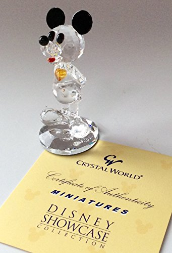 Crystal World Figurine Rare DISNEY SHOWCASE Birthstone Mickey Miniature Series November