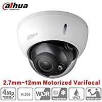 Dahua POE Dome Camera HDBW4431R-ZS (2.7mm~12mm) 4 Megapixel Varifocal Motorized IP Camera IR Night Version H265 Outdoor Security Surveillance Camera ONVIF International Version