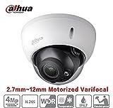 Cheap Dahua IPC-HDBW4431R-ZS 2.7mm~12mm Lens 4MP Motorized Varifocal Zoom Network Dome Camera PoE IR Range 50m IP67 Waterproof ONVIF International Version