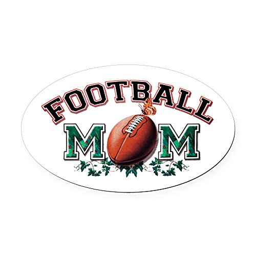 Oval Car Magnet Large Football Mom with Ivy