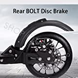 DISC BRAKE Folding Commuter Big Wheel Push Scooter With Suspension Adult Kids