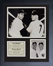 Legends Never Die Joe DiMaggio and Mickey Mantle Framed Photo Collage, 11 x 14-Inch