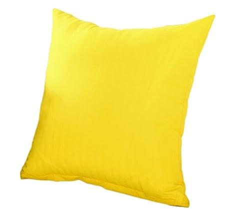 drawihi oficina cojines fundas de almohada color naranja puro para resto cojín, Amarillo, 45*45*2cm