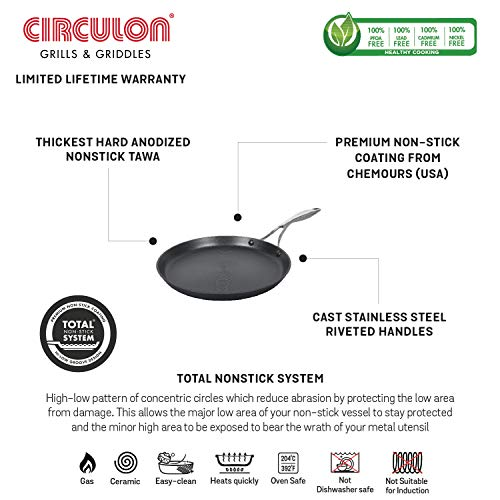 Circulon-Induction-Base-Hard-Anodized-Aluminium-Tawa-28-cm-Black