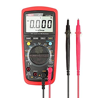 Uni-t Ut139C 5999 Count True RMS LCD Digital Auto Range Multimeter AD/DC Voltage Current Tester with Resistance Capacitance NCV Test and Temperature Measurement