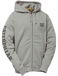 CAT Full Zip Hooded Sweatshirt Heather Grey