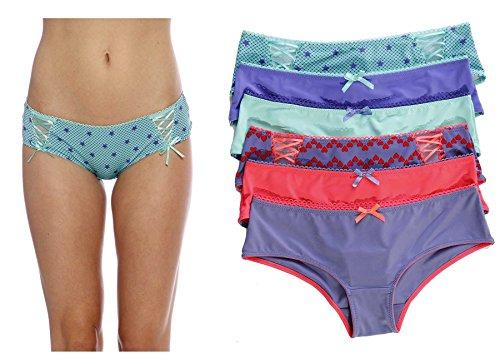 Just Intimates Panties For Women/Boylegs/Underwear (Pack Of 6)