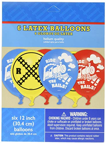 amscan Party Supplies Thomas All Aboard Printed Latex Balloons, Multi Color -