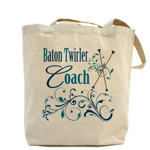 CafePress–Bacchetta Twirler Coach–Borsa di tela naturale, panno borsa per la spesa