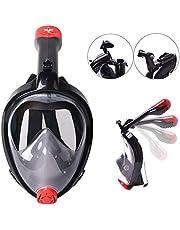 VILISUN Vollmaske Schnorchelmaske Tauchmaske Vollgesichtsmaske mit 180° Sichtfeld, Dichtung aus Silikon Anti-Fog und Anti-Leck Technologie für Alle Erwachsene