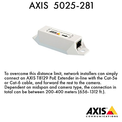 Axis Communications T8129 PoE Extender Repeater RJ-45/RJ-45 (5025-281) by Axis Communications