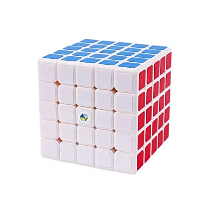 Alician 6.3CM 5x5 Wear Resistant Magic Cube Toy for Kids White Bottom