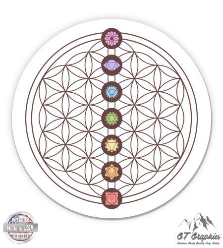 Chakra Flower - GT Graphics Seven Chakras on Flower of Life - 3