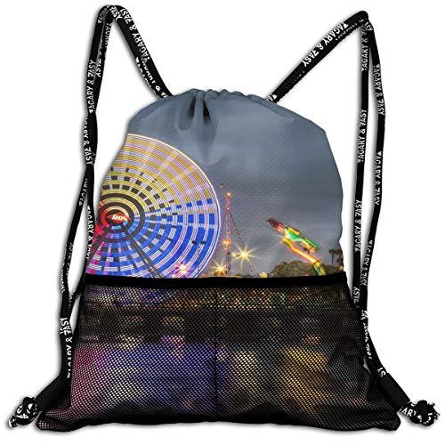 San Diego County Fair Unisex Large Sport Sack Drawstring Backpack Waterproof Stadium Shoulder Bags Home Travel School Storage -