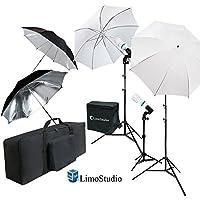 Limowhite & Black Umbrella Reflector Video Continuous Lighting Kit