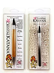 Crystal Katana Rhinestone Applicator by Crystal Ninja with Replacement Tip