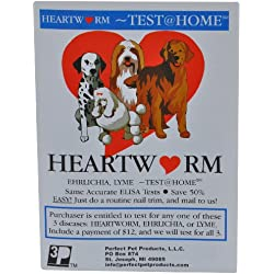 HEARTWORM TEST@HOME-Heartworm TEST( Lyme Test, Ehrlichia Test, and Anaplasmosis)-Mail the sample to our Vet Lab-TEST At HOME-SAVE TIME, Money, and the TRIP