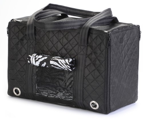 Sherpa Dog Cage - Sherpa Park Tote Pet Carrier, Small Black