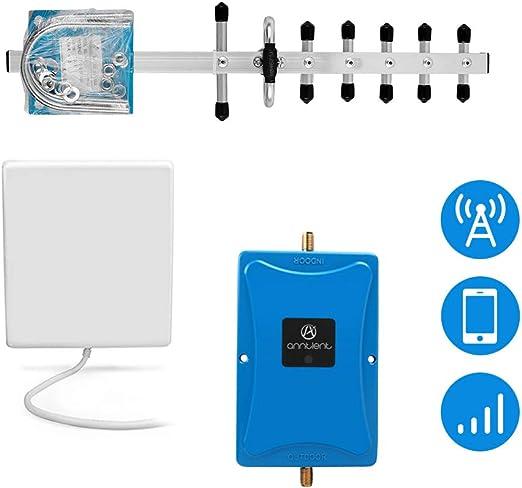ANNTLENT Amplificador Señal Movil, gsm 4G Band 3 1800MHz 70dB Repetidor gsm con 2 Antenas para améliorer la Voz y los Datos