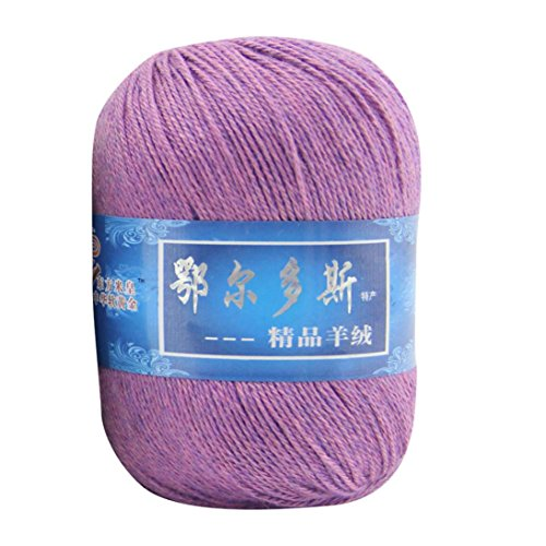 Iuhan Soft Cashmere Yarn Hand-knitted Mongolian Woolen DIY Weave Thread Knit Craft (I)