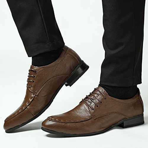 Abby 16181 Mens Dress Wedding Leisure Cozy Athletic Comfy Banquet Bussiness Lace Up Scarpe In Pelle Ocra