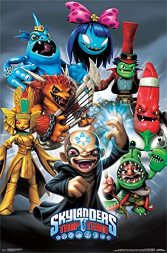 "Skylanders Trap Team - Super Villains 22""x34"" Art Print Poster"