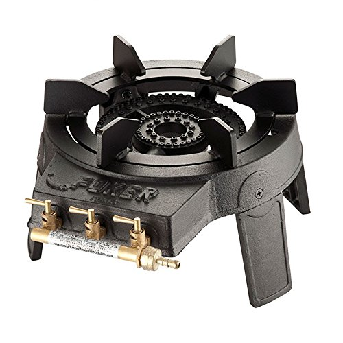 Foker Cast Iron Gas Wok Burner with Triple Ring Burner and 3 Valves for independent control