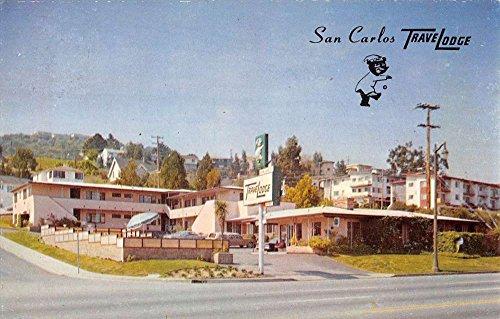 san-carlos-california-travelodge-street-view-vintage-postcard-k37302